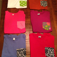 Custom POCKET FROCKET shirt Choose Your Own Fabric and Shirt Color Size LARGE