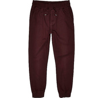 River Island MensDark red jogger pants
