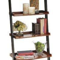 Convenience Concepts French Country Bookshelf Ladder, Black and Cherry