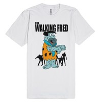 The Walking Fred (Flintstone)-Unisex White T-Shirt