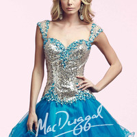 Mac Duggal 82095 - Turquoise Sequin Sweetheart Homecoming Dresses Online