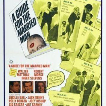 Guide For The Married Man movie poster Sign 8in x 12in