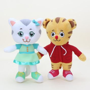 20cm Daniel Tiger's Neighborhood Plush toy Katerina cat Daniel Tiger Friends Soft Stuffed Plush Toys for Kids Gift