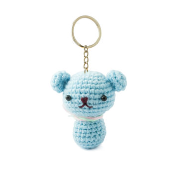 Kitten Cat Handmade Amigurumi Stuffed Animal Toys Keychains Keyrings VKC