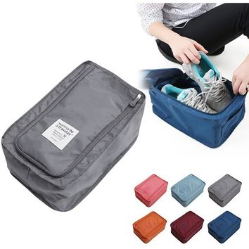 Travel Storage Bag Nylon 6 Colors Portable Organizer Bags Shoe Sorting Pouch Hot Sale