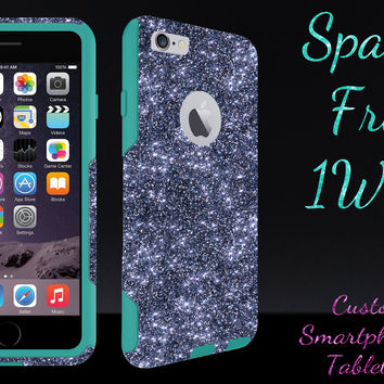 "OtterBox Commuter Series Case for 4.7"" iPhone 6 - Custom Glitter Case for 4.7"" iPhone 6 - Smoke/Teal"