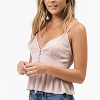 Lottie Moss Button Front Babydoll Top at PacSun.com