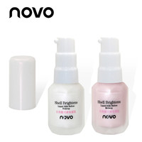 NOVO Shell Concealer Isolation Brightens Liquid Primer Make Up Base Oil Control Highlighter Face Primer White Moisture Shimmer