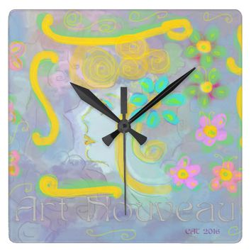 wall clock ART NOUVEAU