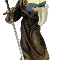 A Veronese St. Paul statue in fully hand-painted color, 8inches