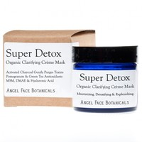 Super Detox Organic Clarifying Mask with Activated Charcoal & Pomegranate (1.2 oz) from Angel Face Botanicals