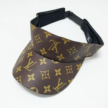 LV Louis Vuitton Hot Sale Women Men Personality Sunhat Baseball Cap Hat Coffee