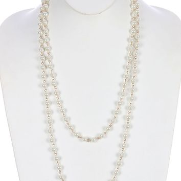 Extra Long Pearl Necklace