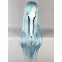 Long Ice Blue Cosplay Wig