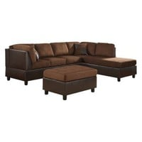 Sectional Set with 2 Pillows - Cherry