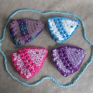 Bath Fishy Cotton Crochet Wash Cloth Mitten (choose 1 +)