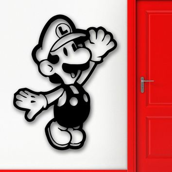 Super Mario party nes switch Art  Vinyl Decal Home Decoration Children Nursery Room Removable Wall Stickers Video Game Perfect Quality Mural ZB288 AT_80_8
