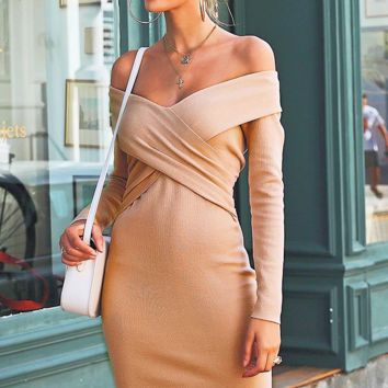 Emelee Off The Shoulder Sweater Dress