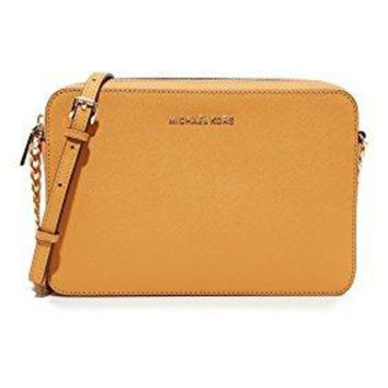 GPON MK Women Shopping Bag Leather Tote Handbag Michael Kors Women's Jet Set Crossbody Leather Bag, Large