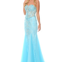 Precious Formals C70224 Lace Prom Pageant Dress Evening Gown