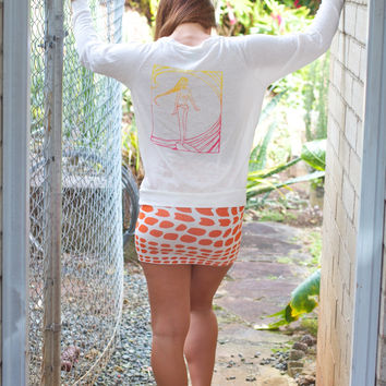 Wings Hawai Surfer Girl Raglan Cream