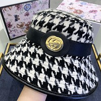 GUCCI Houndstooth New fashion couple fisherman hat cap
