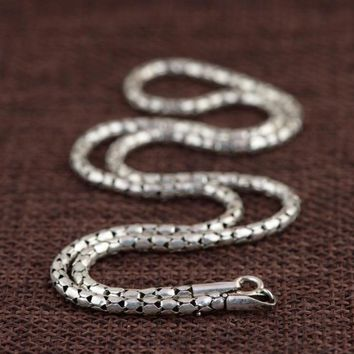 Sterling Silver Choker Necklace or Men