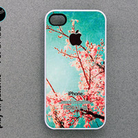 iphone 4 Case - iphone 4s case - plastic or silicone rubber - floral design