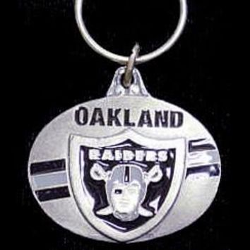 Raiders Oval Carved Metal Key Chain #66726
