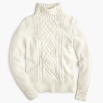 Cambridge cable turtleneck sweater