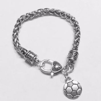 Soccer Sports Mom Daughter Valentine Gift Charm Bracelet
