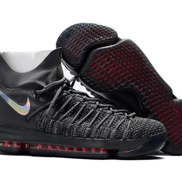 VAWA Nike Men's Durant Zoom KD 9 Flyknit Basketball Shoes Black