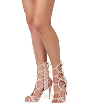 Natural Caged To Perfection Heels