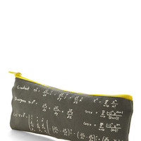 ModCloth Nifty Nerd, Travel, Scholastic As Easy as Pi Pencil Pouch