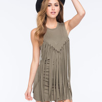 Lira Dakota Dress Olive  In Sizes