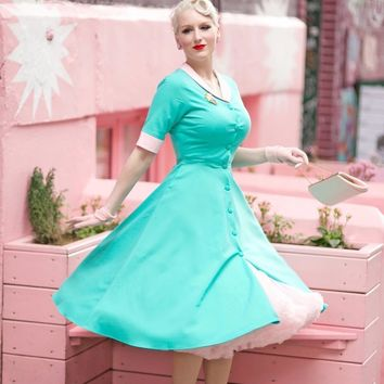 Flo's Swing Turquoise Dress - Free Custom Sizing
