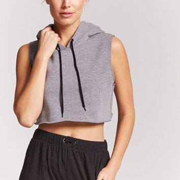 Active Hooded Crop Top