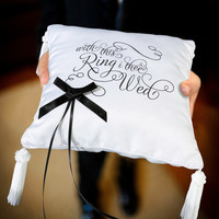 With This Ring I Thee Wed Ring Bearer Pillow