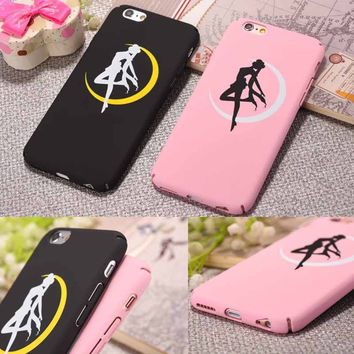 20pcs Fashion Moon Angel Ballet Girl Case For iphone 6 Case For iphone 6S 6 Plus 5 5S Matte Hard Phone Cases Back Cover Coque
