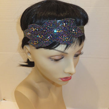 Art Deco Headband- Great Gatsby Headband, 20s Headband, Flapper Headpiece, Leaf Headband
