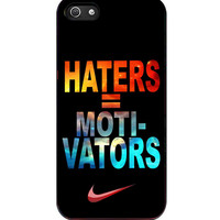 Nike Haters Motivation Nebula Galaxy iPhone 5s For iPhone 5/5S Case