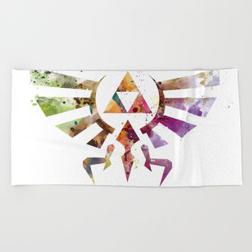 Zelda Beach Towel by monnprint