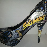 Decoupage Batman High Heels