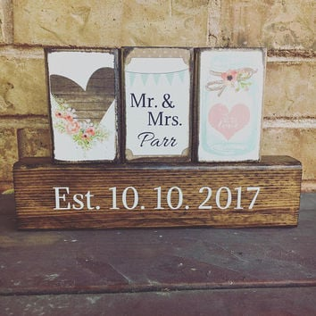 Rustic wedding decor, unique gift for couple, bride gift, groom gift, mason jar, wedding gift, bridal shower gift, sign for home, mr & mrs