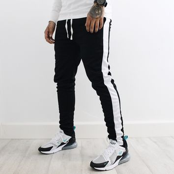 Kyle Track Pants (Black/White)