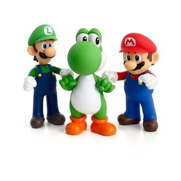 Super Mario party nes switch 3D  Figurines Luigi  Yoshi Miniatures Action Figure Collection Model Toys Dolls 10-13cm for Kids birthday Gifts AT_80_8