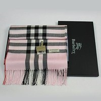 Burberry Women Fashion Accessories Wool Sunscreen Cape Scarf Scarves Pink I