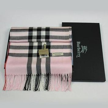 Burberry Autumn Winter Classic Popular Woman Men Plaid Sunscreen Cape Scarf Scarves Accessories I/A
