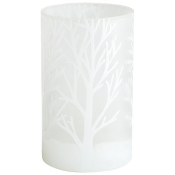 Frosted Bark Vase - Small