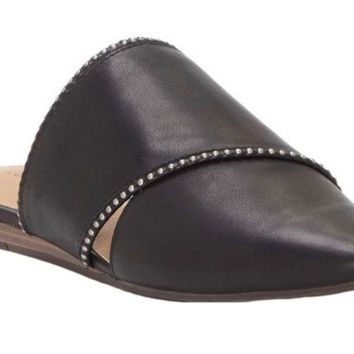 Lucky Brand Bidimin2 Black Leather Mules